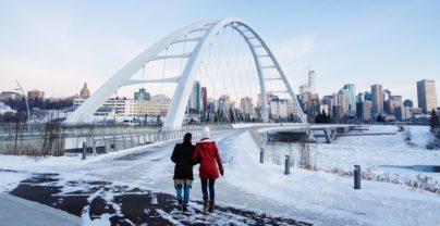 Skiurlaub und Edmonton